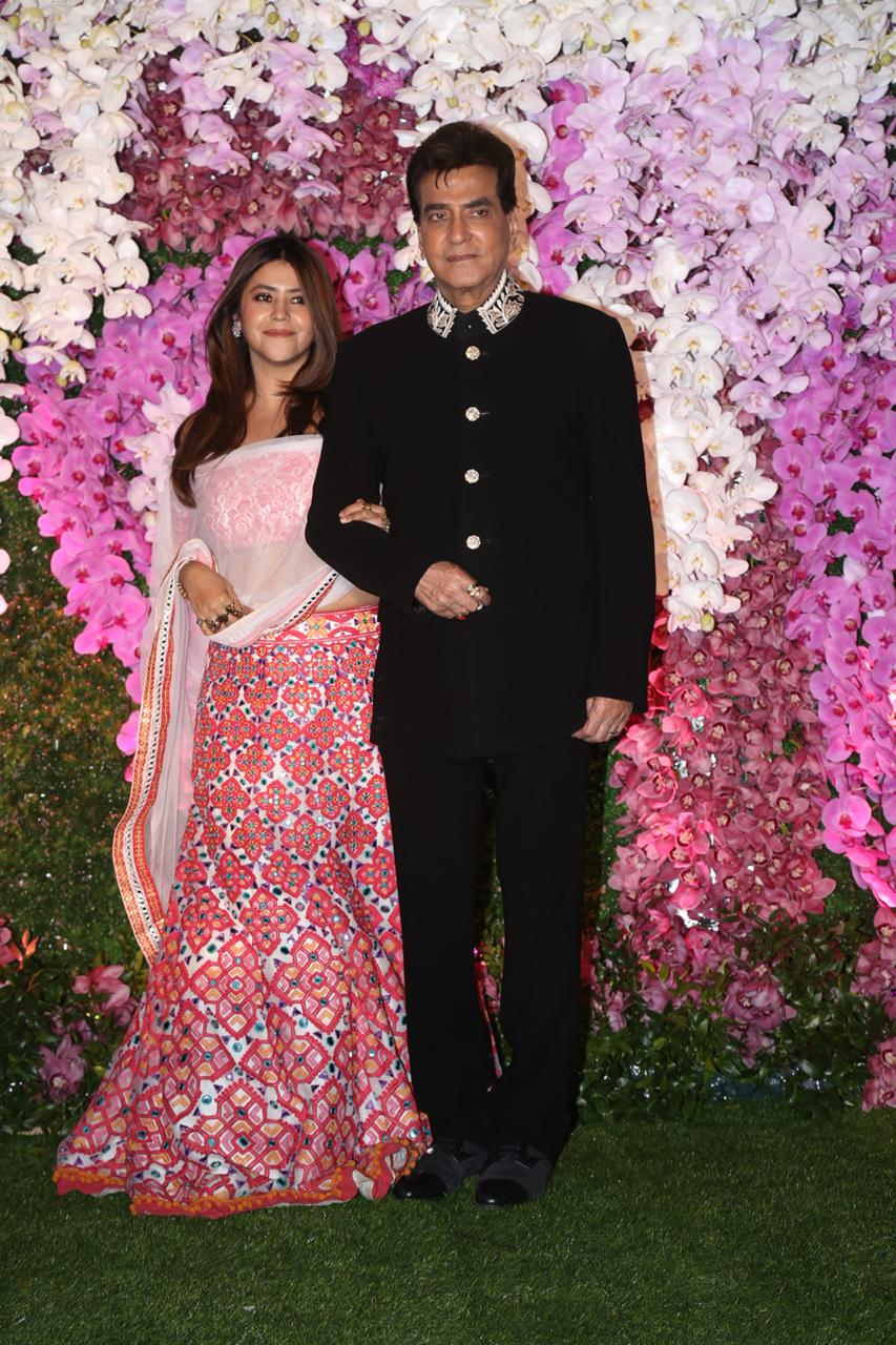 Ekta Kapoor And Jitender at Akash Ambani and Shloka Mehta Reception