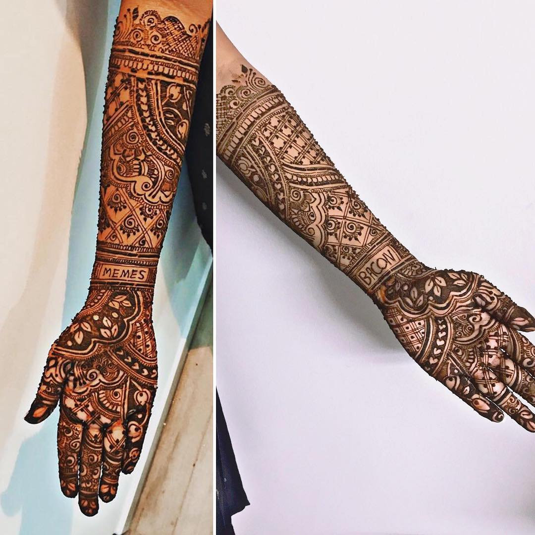 Spotted This Latest Mehendi Design Where The Bride Got