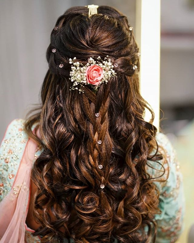bridal hairstyle for long hair and open hair ideas