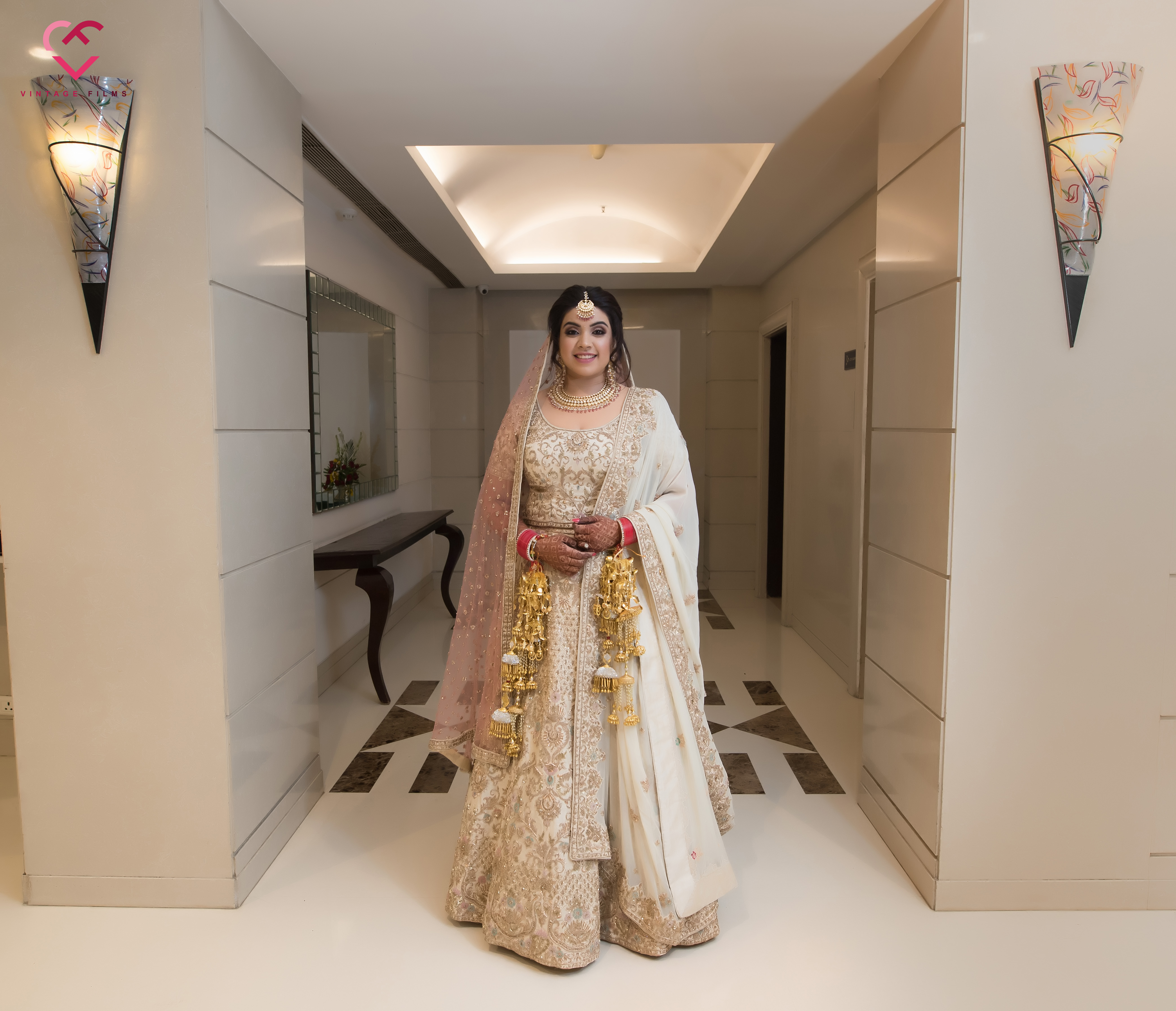 off white bridal lehenga