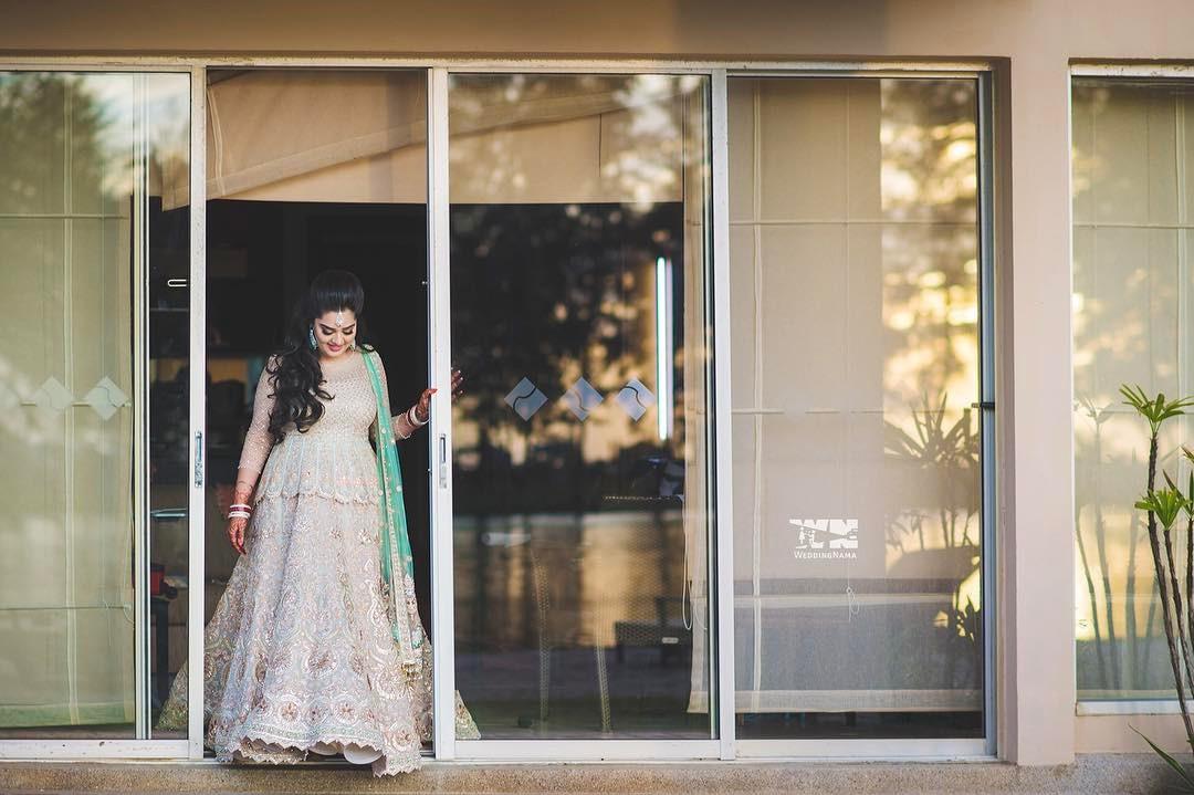 silver bridal lehenga