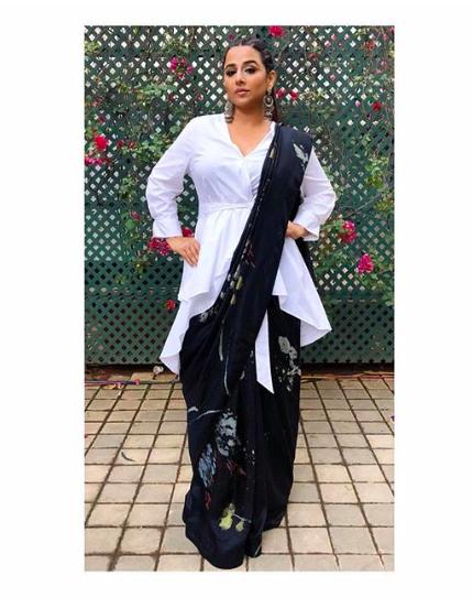 Vidya Balans Saree Look