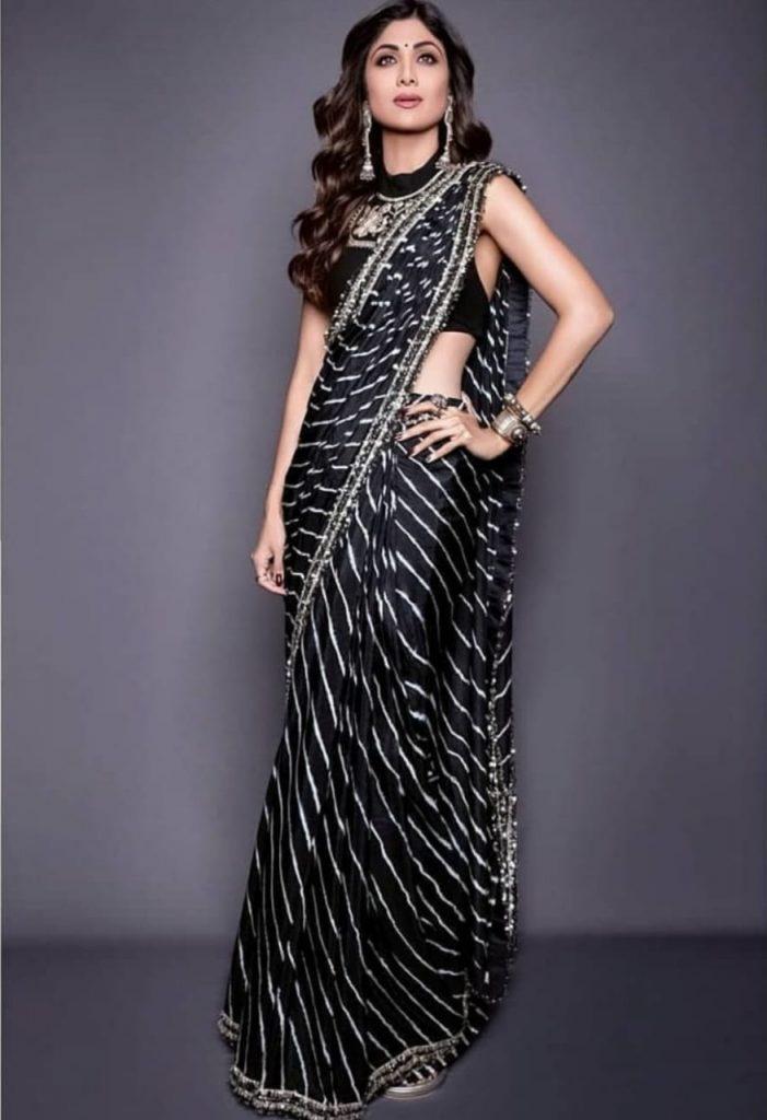 shilpa shetty saree looks