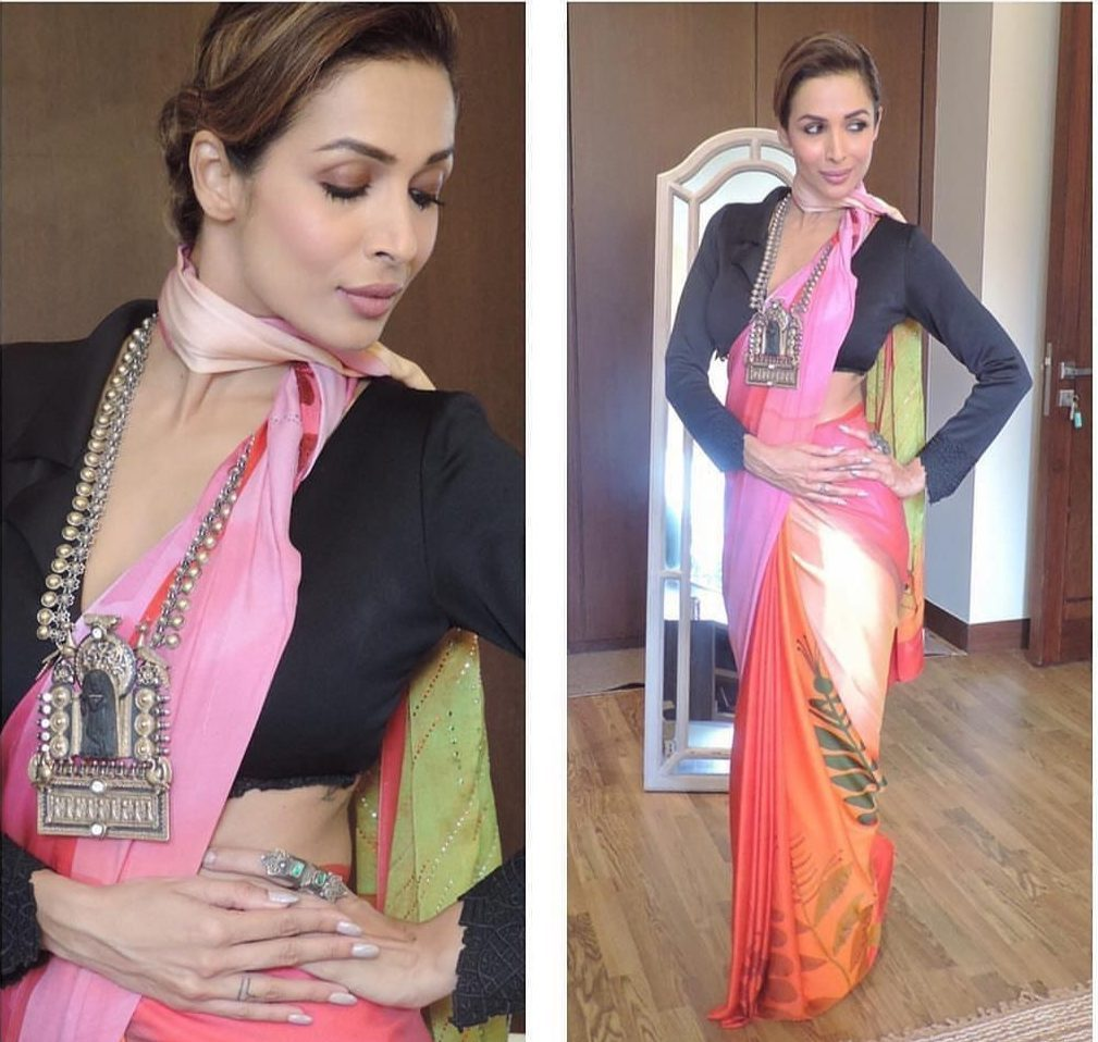 latest saree trends for wedding from Malaika Arora