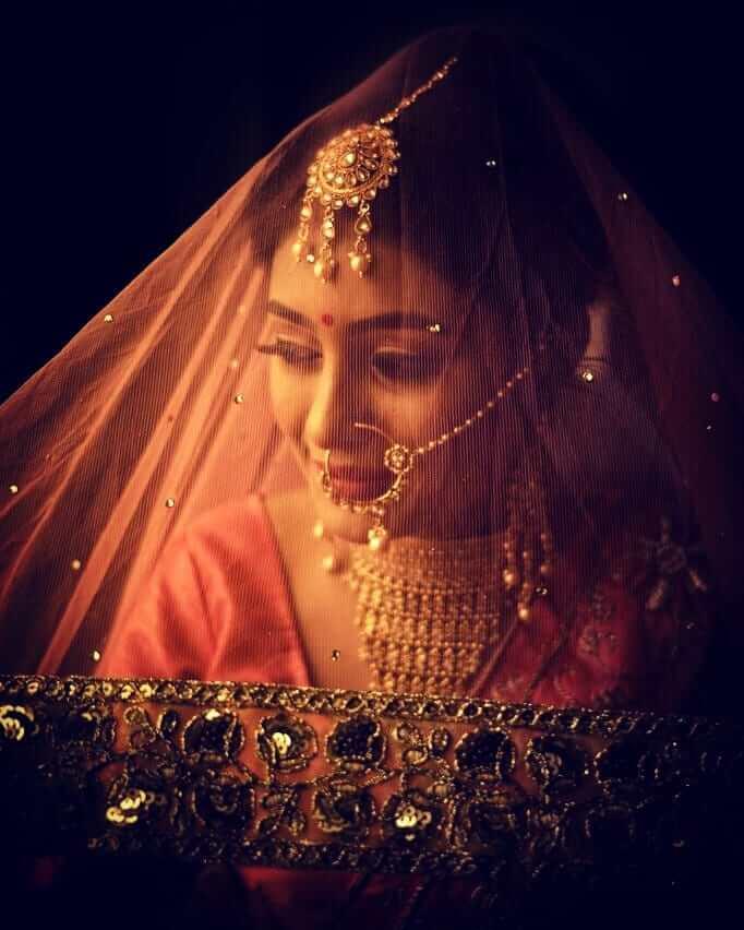 golden bridal maang tikkas