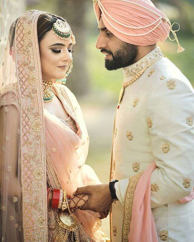 sikh weddings,Colour coordinated outfits,sikh groom outfit ideas