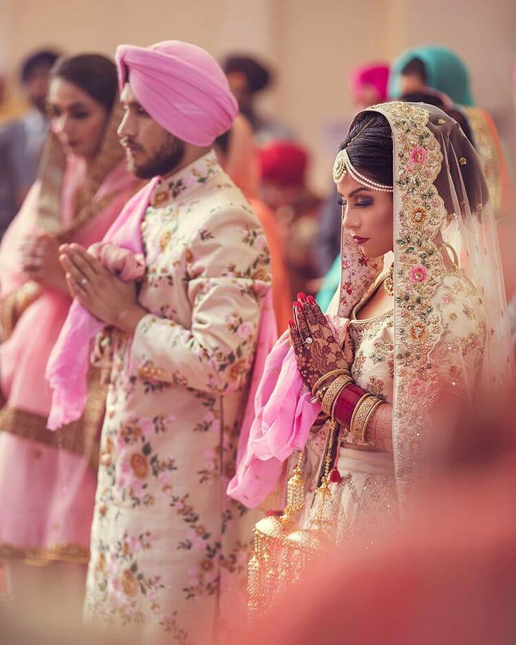 sikh groom outfit ideas,Colour coordinated outfits