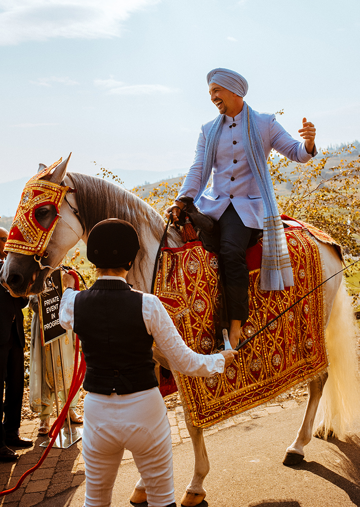 sikh groom entry