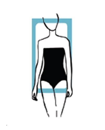 body type, rectangle shape