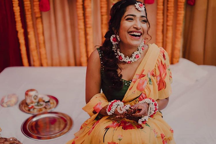 floral saree ideas