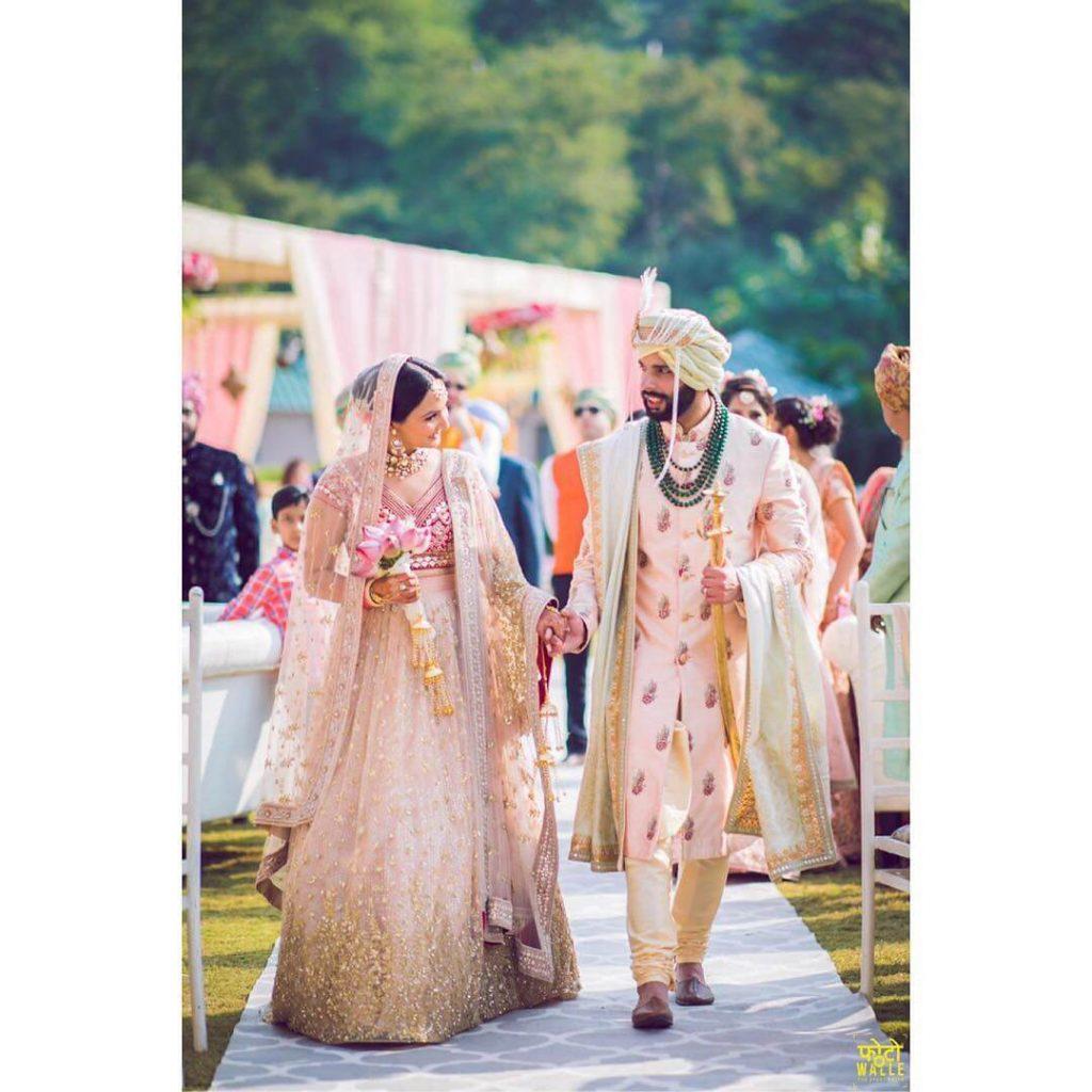 blush pink sherwani