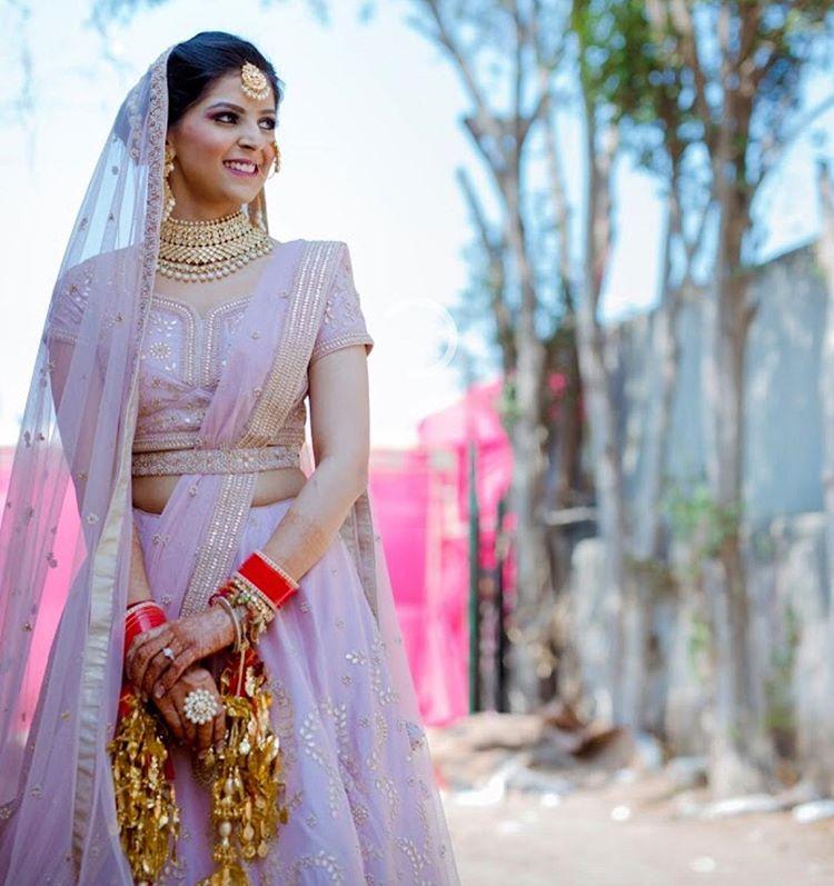 belted bridal lehenga