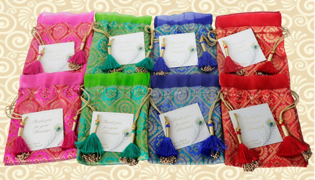 Colourful Pouches,wedding favors