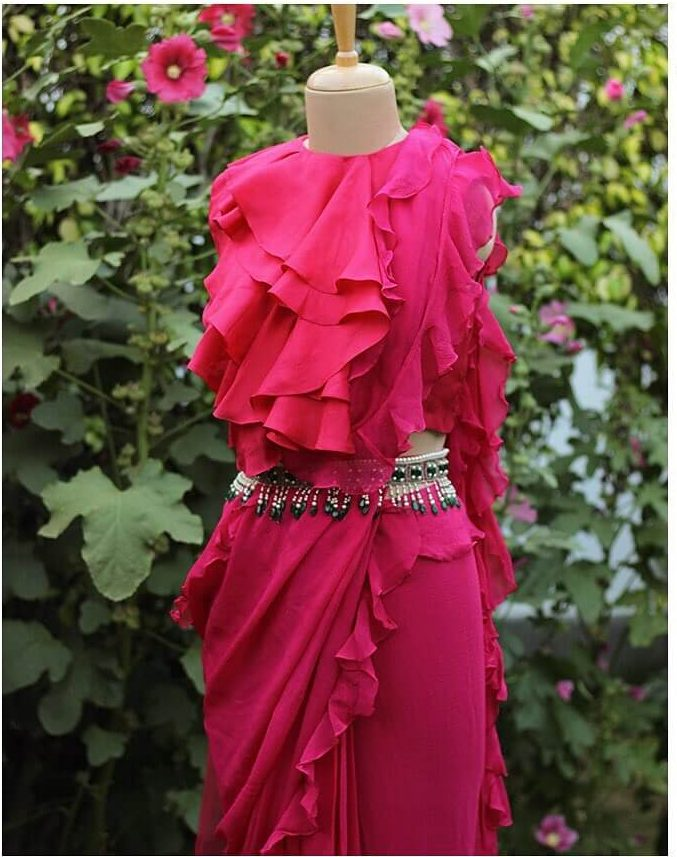 ruffled saree ideas