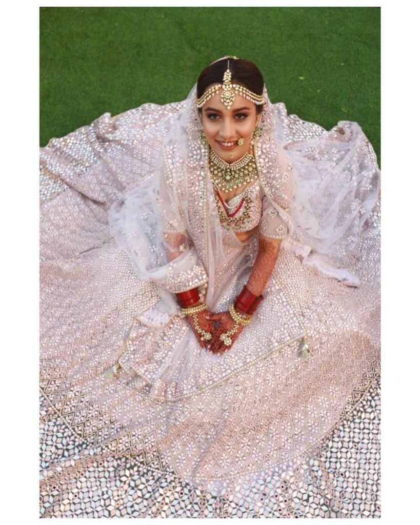 pastel powder pink color lehenga
