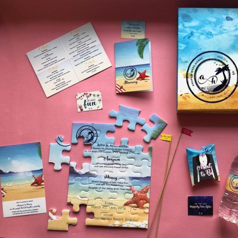 puzzle wedding invite