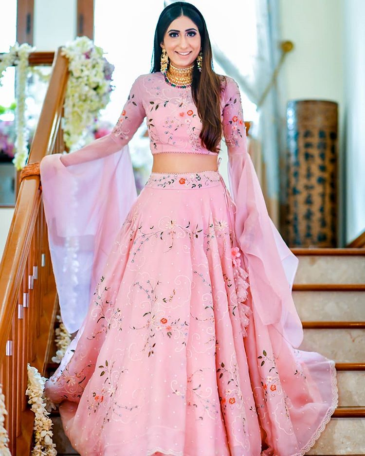 light bridal lehenga