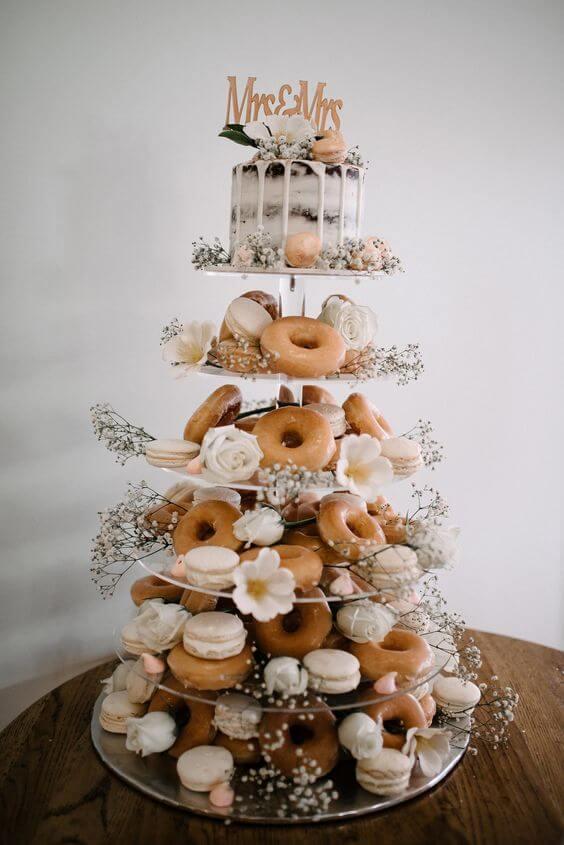 wedding cake alternatives,donuts cake