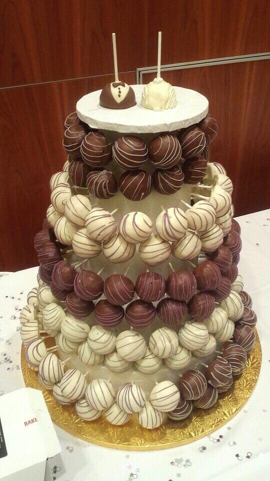 chocolate lollipops,wedding cake