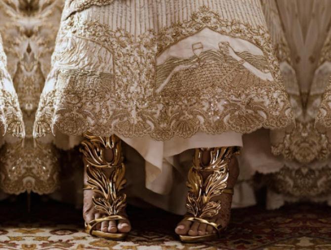 personalized bridal lehenga