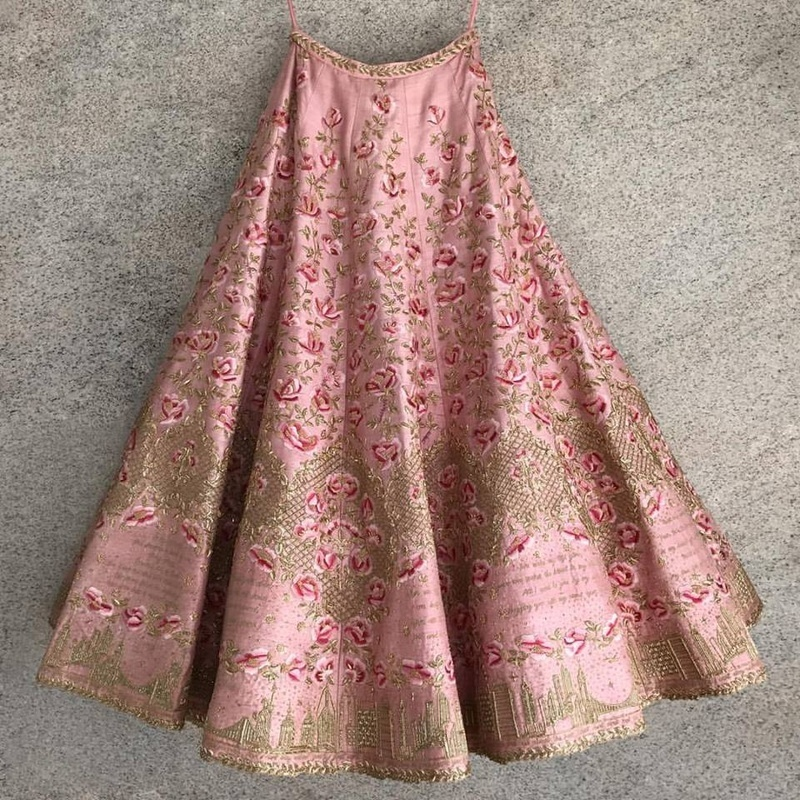 personalized bridal lehenga
