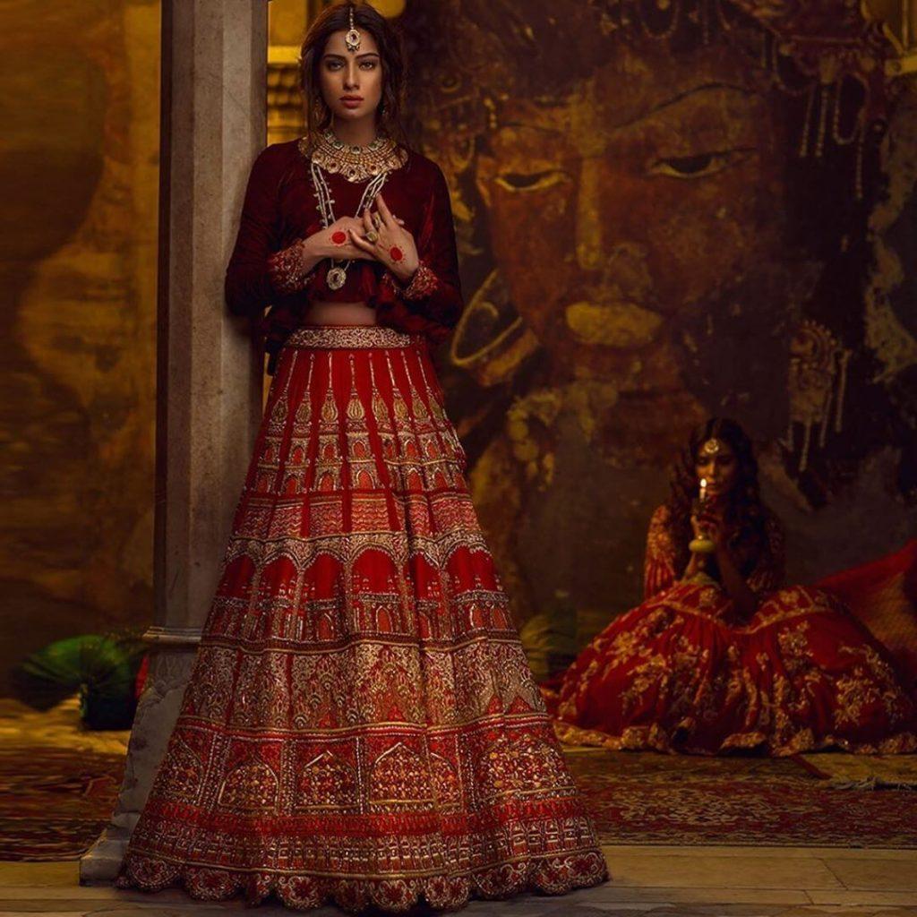 traditional red lehenga