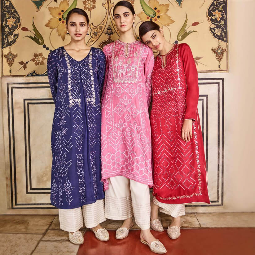 Bandhani Kurtas And Suits