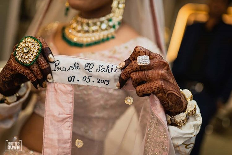 personalized bridal dupatta