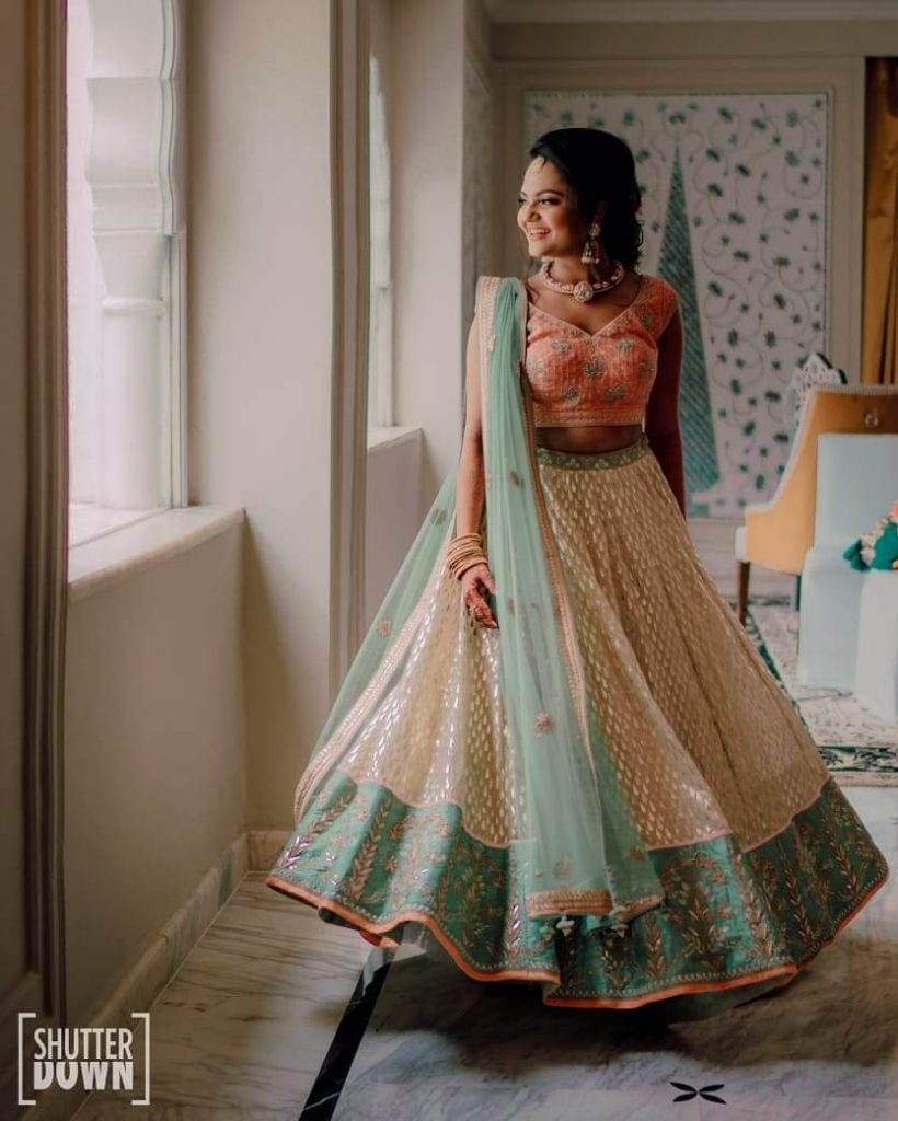 lehenga border ideas