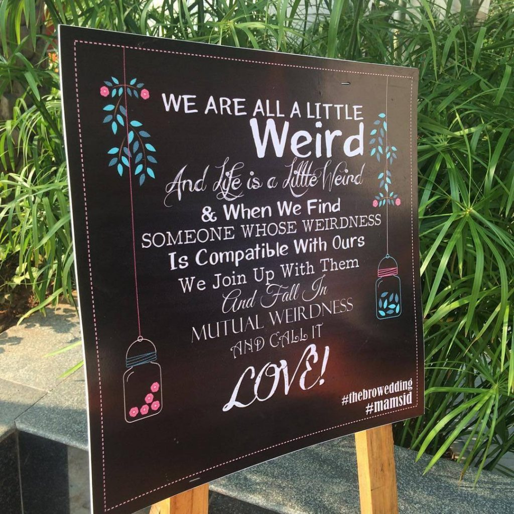Creative Wedding Signboards