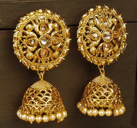 Golden Jhumkas