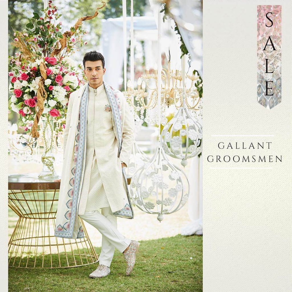 Groom Dupatta With Sherwani