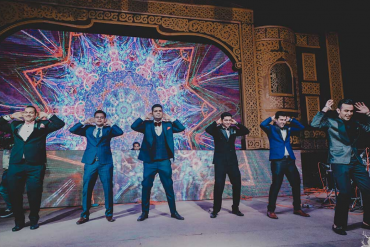 groomsmen dance performance
