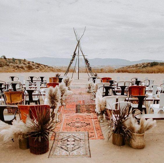 bohemian themed wedding