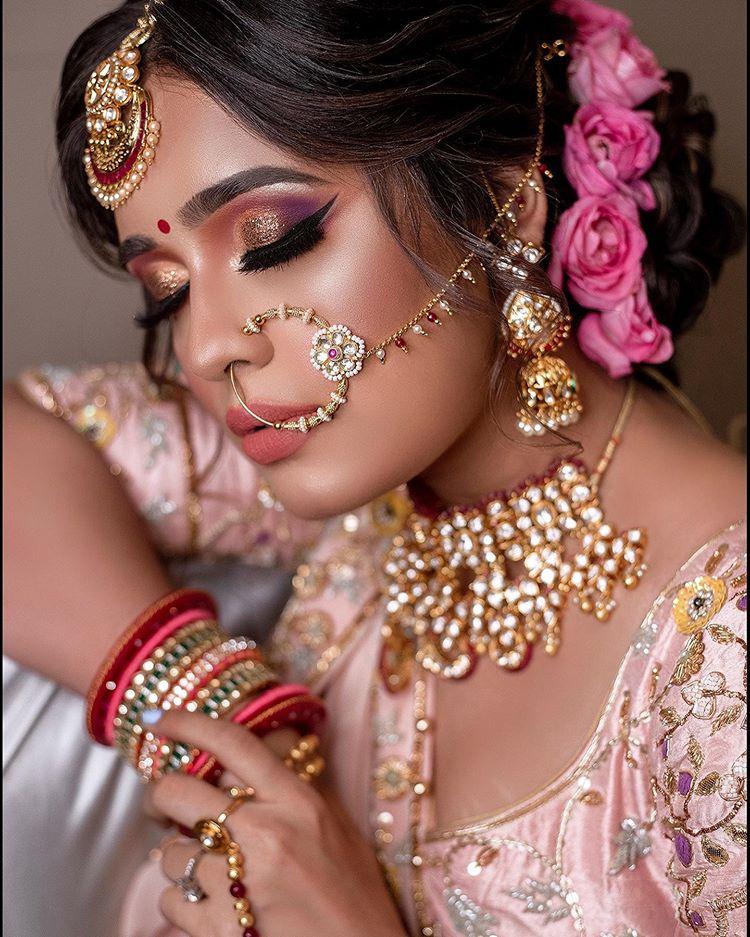 dusky bridal makeup looks, eye makeup