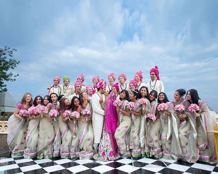 coordinated bridesmaids outfit ideas