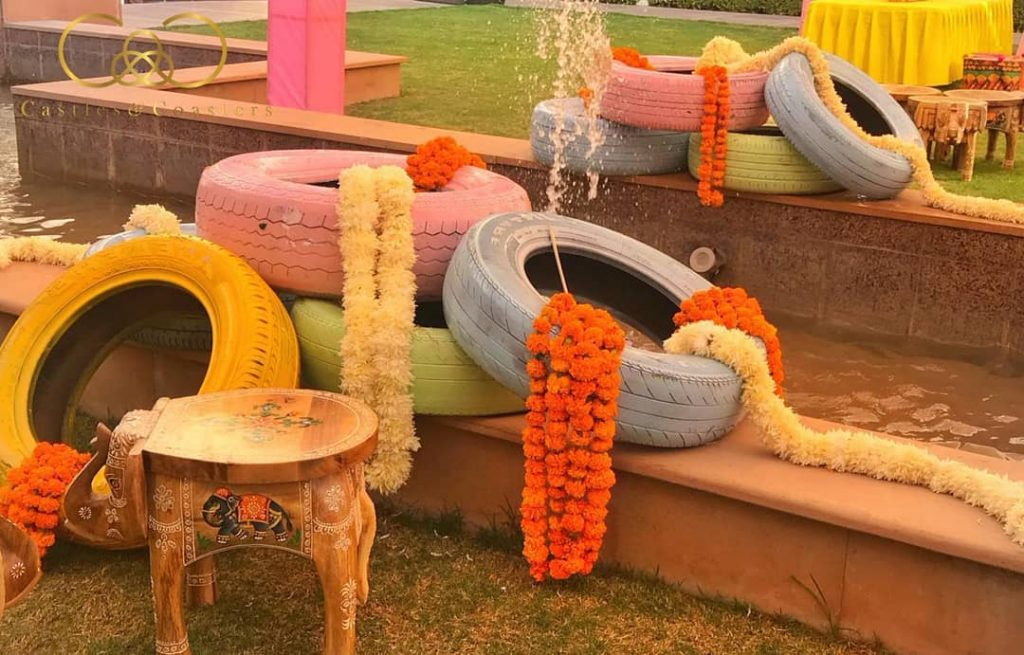 wedding tyres decor