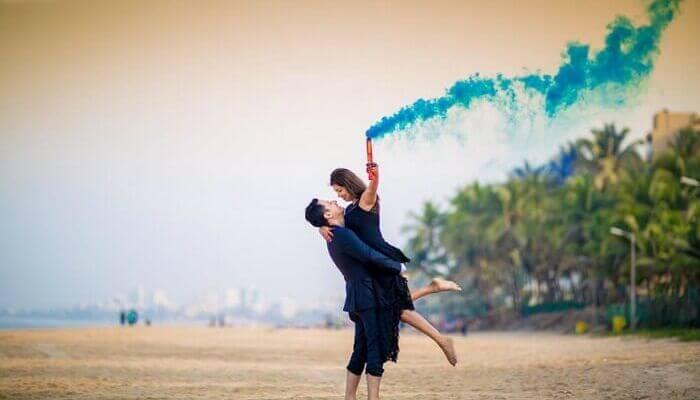 Juhu Beach,pre wedding shoot locations in mumbai