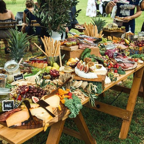 food grazing tables