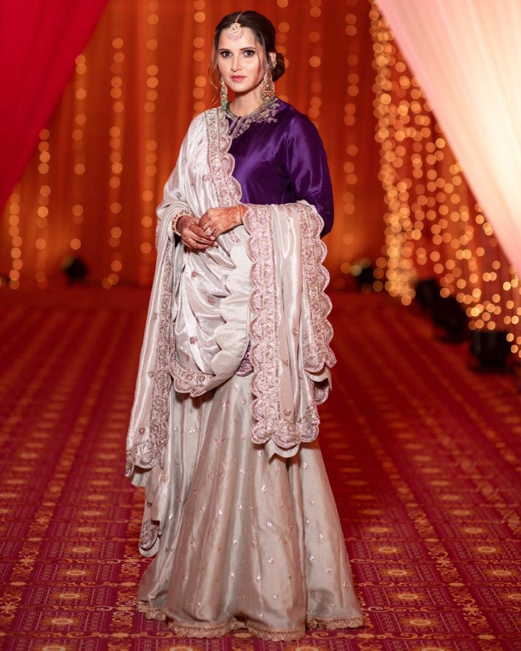 Sania Mirza's sister wedding, bridal outfit ideas