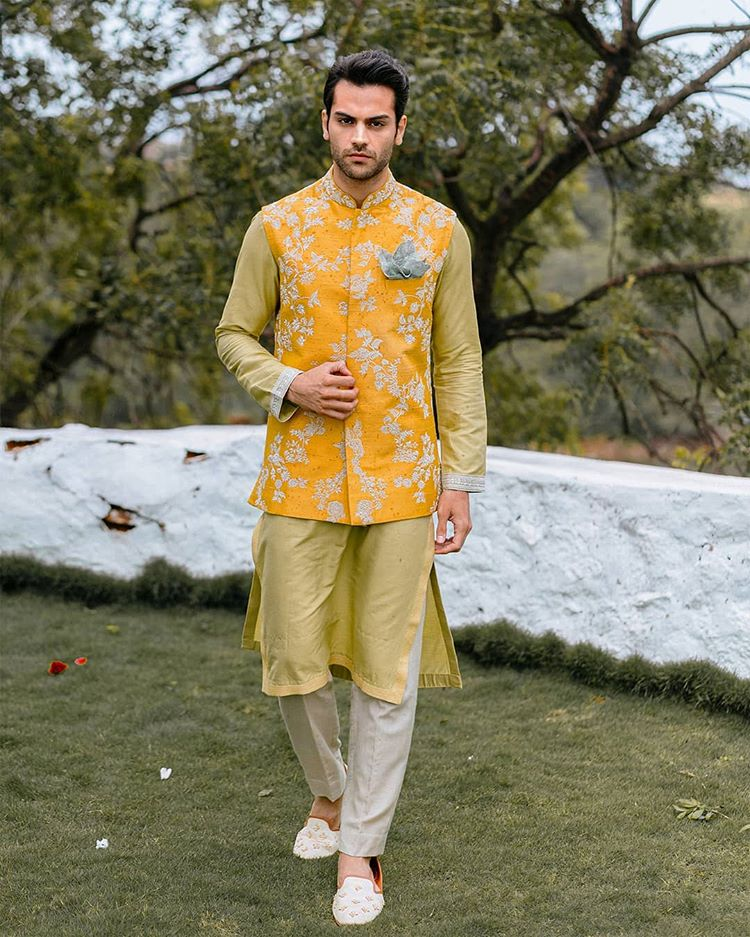 groom floral outfits
