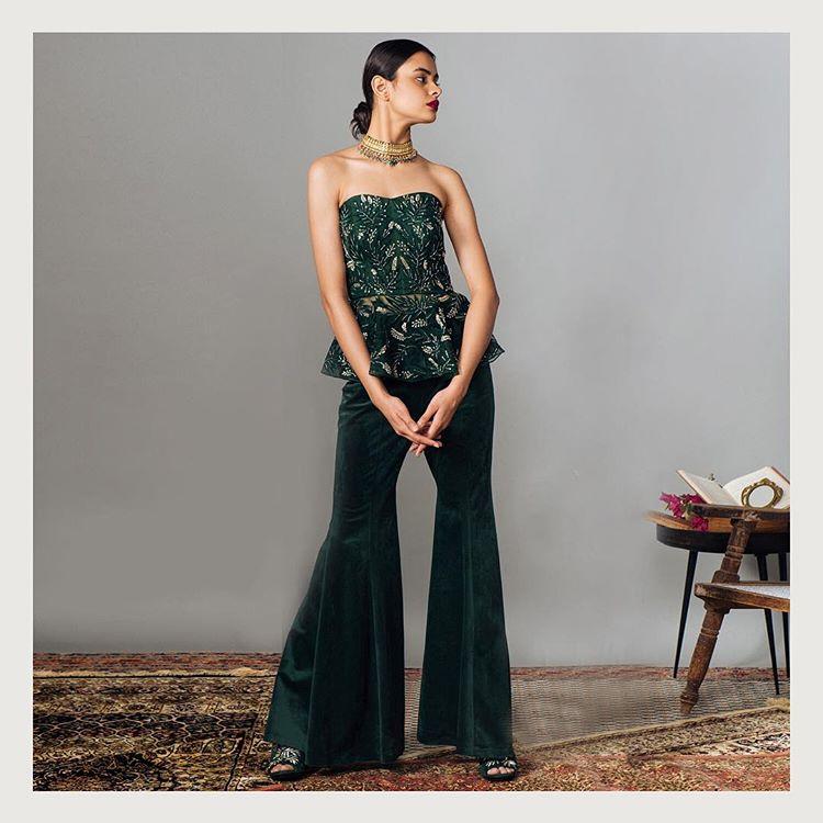 velvet Indo-western dress