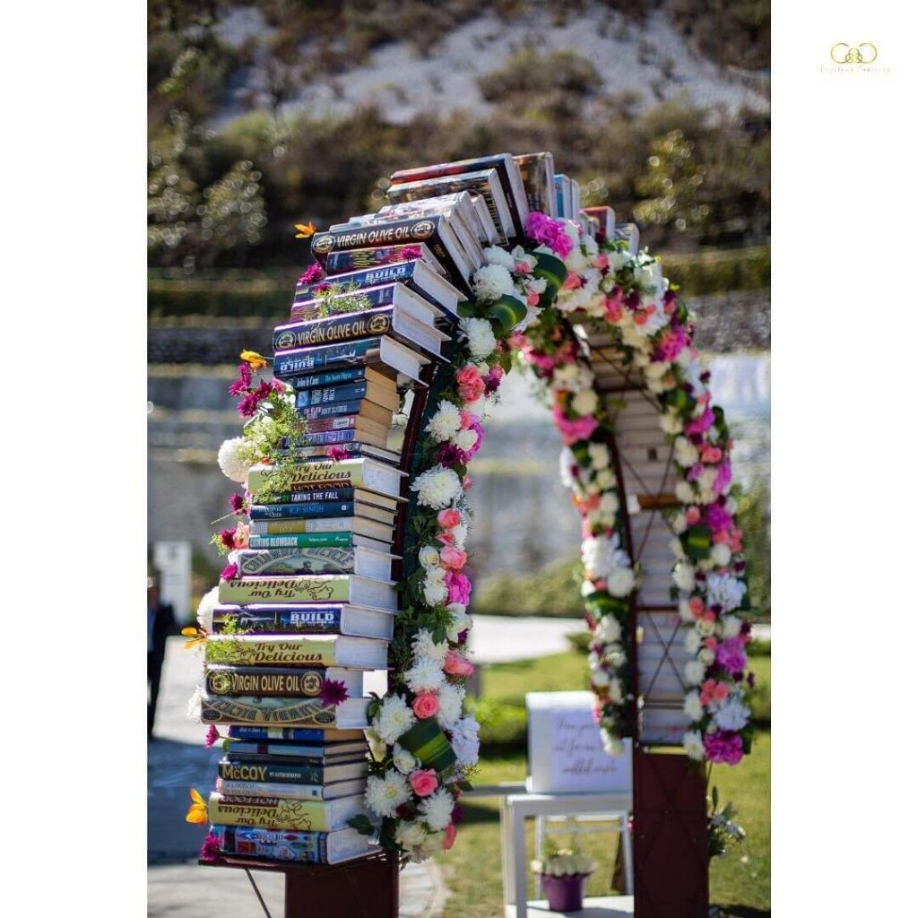 Book And Floral Entrance