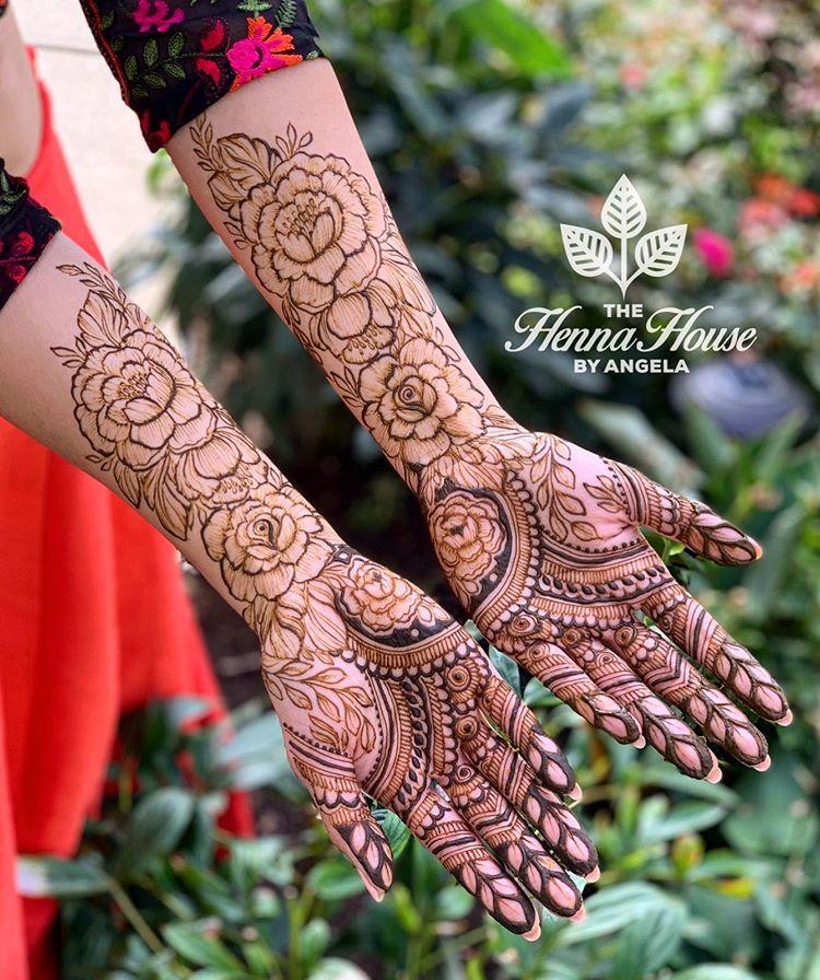 bridal mehndi designs 2019, floral mehendi designs