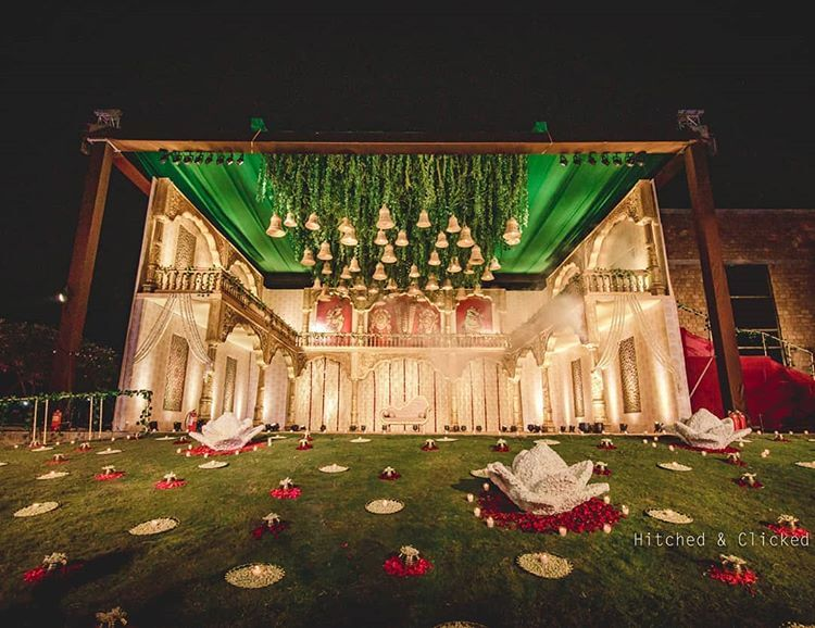 Ceiling Foliage And Bell Decor