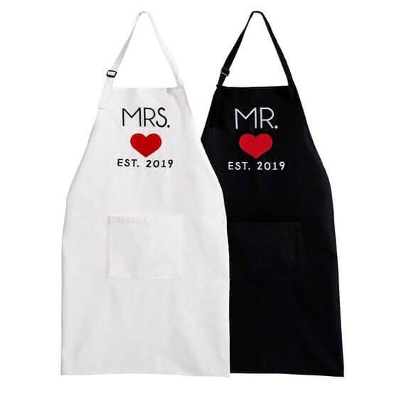 couple aprons