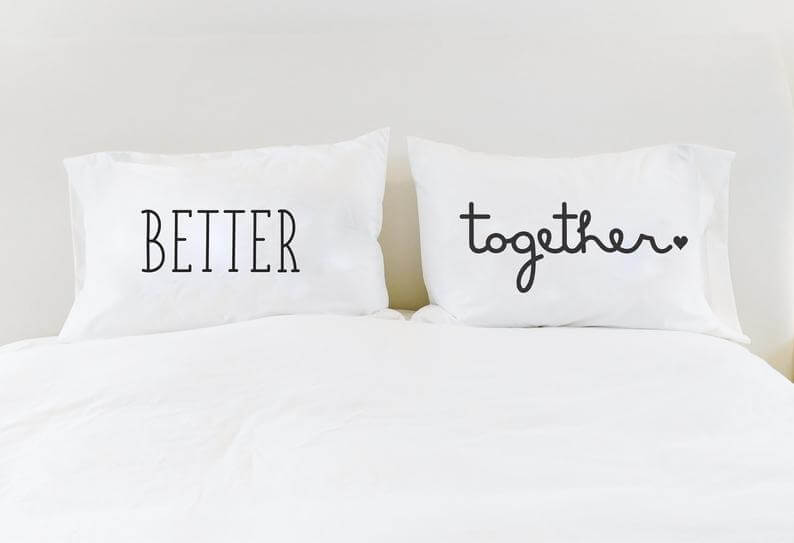 pillow covers for couples