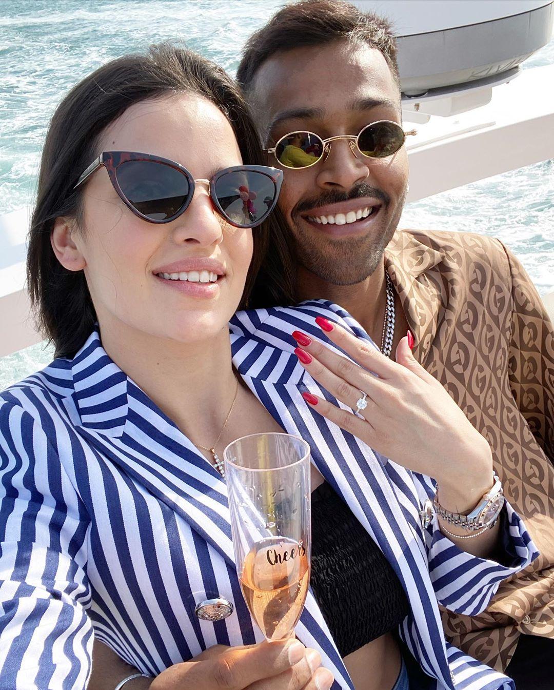engagement ring, Hardik Pandya's Engagement