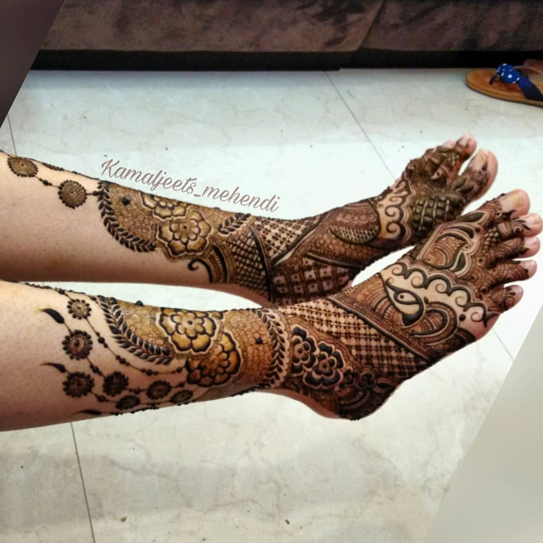 feet mehendi design