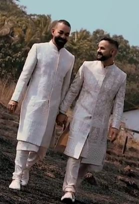 gay couple, Daniel Bauer's Indian wedding